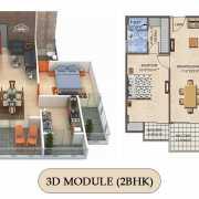 Vilasa Taruchaya Residency Floor Plan 1143 Sqft. 2 BHK