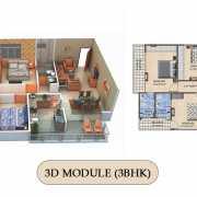 Vilasa Taruchaya Residency Floor Plan 1623 Sqft. 3 BHK