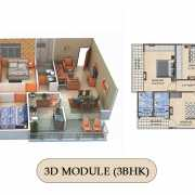 Vilasa Taruchaya Residency Floor Plan 1492 Sqft. 3 BHK