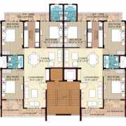 Omaxe Ambrosia Floor Plan 1560 Sqft. 3 BHK