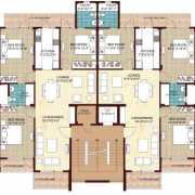 Omaxe Ambrosia Floor Plan 1606 Sqft. 3 BHK