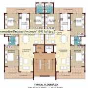 Omaxe Ambrosia Floor Plan 1646 Sqft. 3 BHK