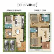The Lake View Address Floor Plan 1175 Sqft. 2 BHK