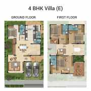 The Lake View Address Floor Plan 1206 Sqft. 2 BHK