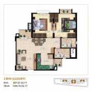 Mahima Bellevista Floor Plan 1009.78 Sqft. 2 BHK Luxury
