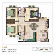 Mahima Bellevista Floor Plan 1366.28 Sqft. 3 BHK