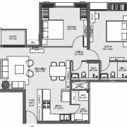 Mahima Florenza Floor Plan 1307 Sqft. 2 BHK