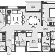 Mahima Florenza Floor Plan 1929 Sqft. 3 BHK