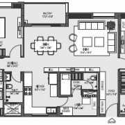 Mahima Florenza Floor Plan 2122 Sqft. 3 BHK