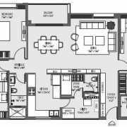 Mahima Florenza Floor Plan 2295 Sqft. 3 BHK