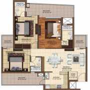 The Hermitage Park Floor Plan 1560 Sqft. 3 BHK