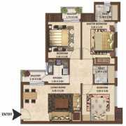 Excella Kutumb Floor Plan 1080 Sqft. 3 BHK