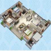 Purvanchal Kings Court Floor Plan 1337 Sqft. 3 BHK