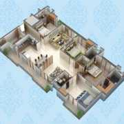Purvanchal Kings Court Floor Plan 1931 Sqft. 4 BHK