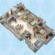 Purvanchal Kings Court Floor Plan 1931 Sqft. 4 BHK