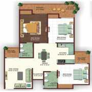 Ajnara Ambrosia Floor Plan 1475 Sqft. 3 Bhk