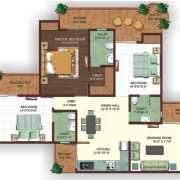 Ajnara Ambrosia Floor Plan 1795 Sqft. 3 Bhk