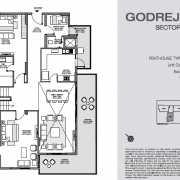 Godrej Nest Noida Floor Plan 284 Sqft. Iconic Tower (Pent House)