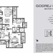 Godrej Nest Noida Floor Plan 105 Sqft. 3 BHK + S +T