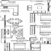 Godrej E City Phase 3 Floor Plan 1449 Sqft. 3 BHK