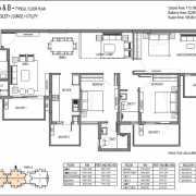 Emaar Palm Premier Floor Plan 2000 Sqft. 3 BHK + 3T+ Lounge