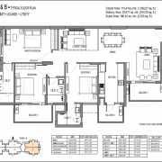 Emaar Palm Premier Floor Plan 2025 Sqft. 3 BHK + 3T+ Lounge