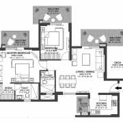Godrej Nature Plus Floor Plan 76.44 Sqft. 2 BHK With Private Deck
