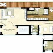 Mahindra Luminare Floor Plan 2985 Sqft. 3 Bhk + Servant Room