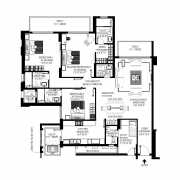 DLF The Crest Floor Plan 2678 Sqft. 3 BHK
