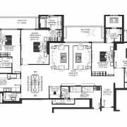 DLF The Crest Floor Plan 3536 Sqft. 4 Bhk