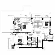 DLF The Crest Floor Plan 4969 Sqft. 4 BHK (Penthouse)