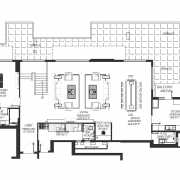 DLF The Crest Floor Plan 6137 Sqft. 5 BHK (Penthouse)