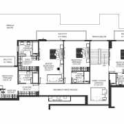 DLF The Crest Floor Plan 6160 Sqft. 5 BHK (Penthouse)