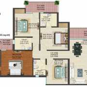 JM Florence Floor Plan 1965 Sqft. 4 BHK