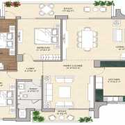 Vipul Aarohan Floor Plan 2940 Sqft. 3 BHK