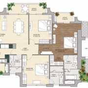 Vipul Aarohan Floor Plan 2410 Sqft. 3 BHK