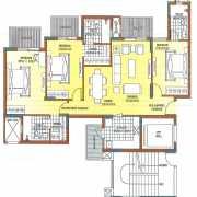 ATS Dolce Floor Plan 1164 Sqft. 3 BHK