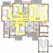 ATS Dolce Floor Plan 1470 Sqft. 3 BHK