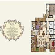 Mahagun Manorial Floor Plan 2700 Sqft. 3 BHK (Whitehall & Westminster palace)