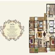 Mahagun Manorial Floor Plan 3325 Sqft. 4 BHK (Richmond & Bridewell Palace)