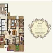 Mahagun Manorial Floor Plan 3465 Sqft. 4 BHK (Richmond & Bridewell Palace)