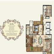 Mahagun Manorial Floor Plan 5900 Sqft. 5 BHK (Kensington Palace)