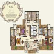 Mahagun Manorial Floor Plan 6100 Sqft. 5 BHK (Kensington Palace)
