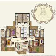 Mahagun Manorial Floor Plan 6250 Sqft. 5 BHK (Kensington & Buckingham Palace)