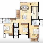 Prestige Falcon City Floor Plan 1842 Sqft. 3 BHK