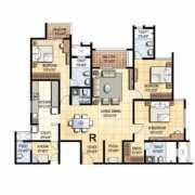 Prestige Falcon City Floor Plan 2104 Sqft. 3 BHK