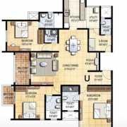 Prestige Falcon City Floor Plan 2140 Sqft. 3 BHK