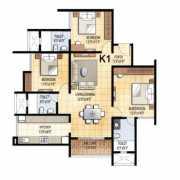 Prestige Falcon City Floor Plan 2689 Sqft. 4 BHK