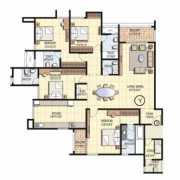 Prestige Falcon City Floor Plan 2710 Sqft. 4 BHK