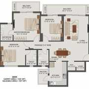 Tata New Haven Bahadurgarh Floor Plan 1917 Sqft. 3BHK + Small